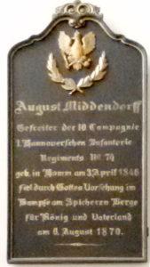 Gedenktafel Pauluskirche Hamm