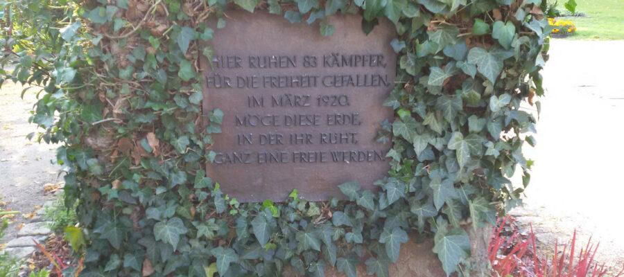 Gedenkstein Rote Ruhrarmee Hamm