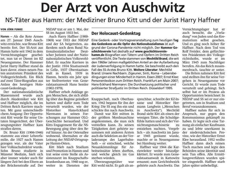 Der Arzt von Auschwitz