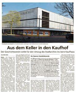 Stadtarchiv Hamm in Kaufhofimmobilie