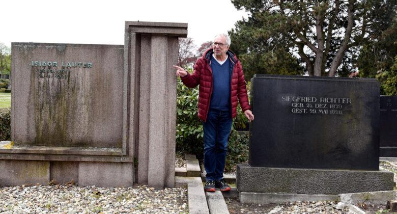 Gräber von Isidor Lauter und Siegfried Richter auf dem Ostenfriedhof in Hamm